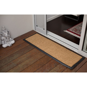 Plain Coir Long Scroll Rubber Double Door Mat 40 X 120cm