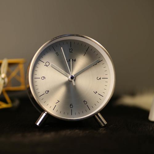 Bertha 101cm wall clock industrial clocks silent sweep movement - Large brushed nickel wall clock ...