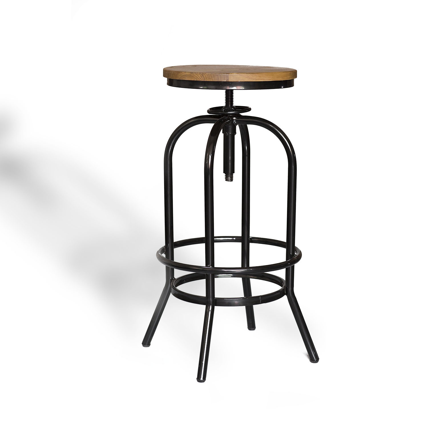Black Kitchen Bar Stools Uk: 2x Metal Bar Stool ARI Kitchen Chair Swivel Adjustable