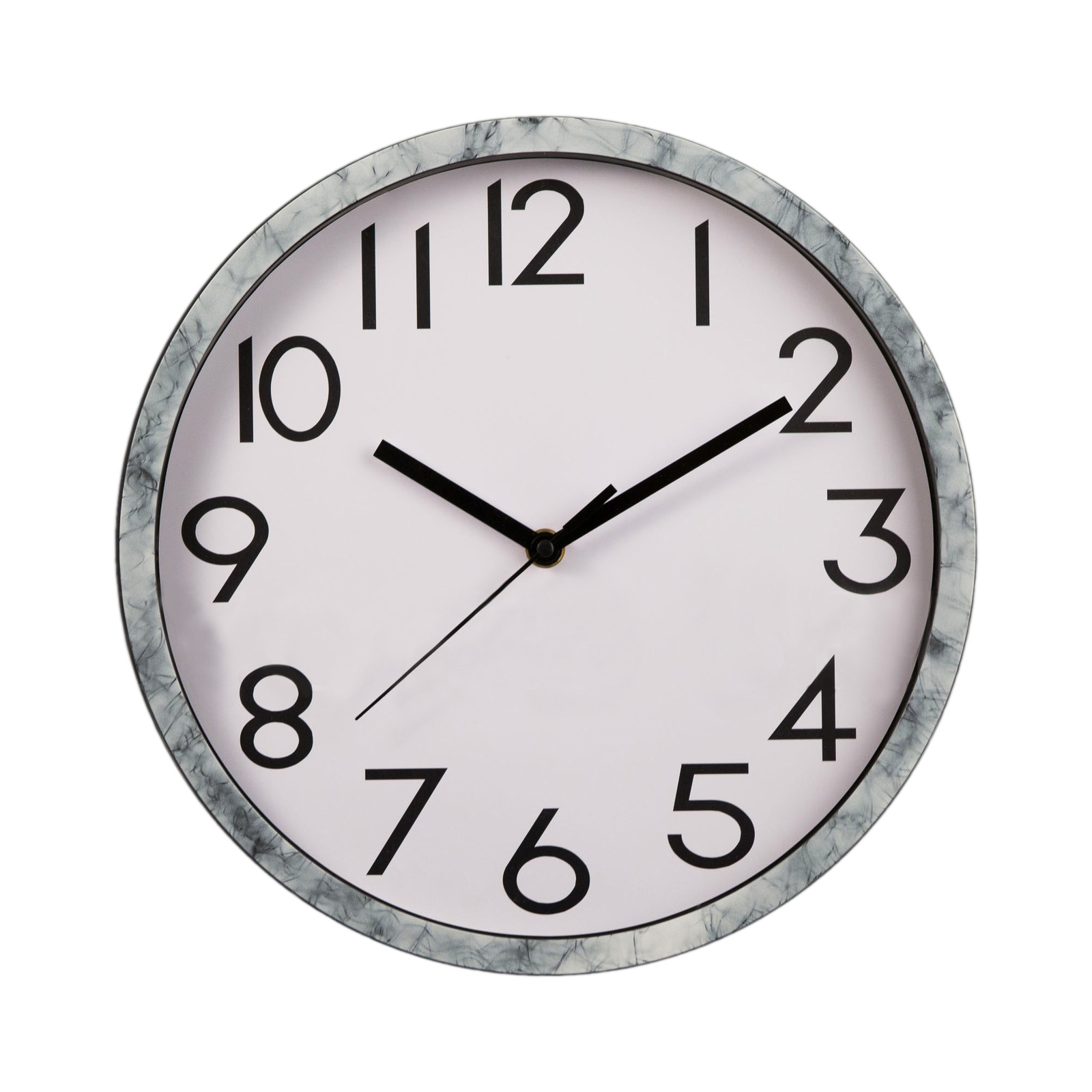White Marble Style 30cm Modern Wall Clock