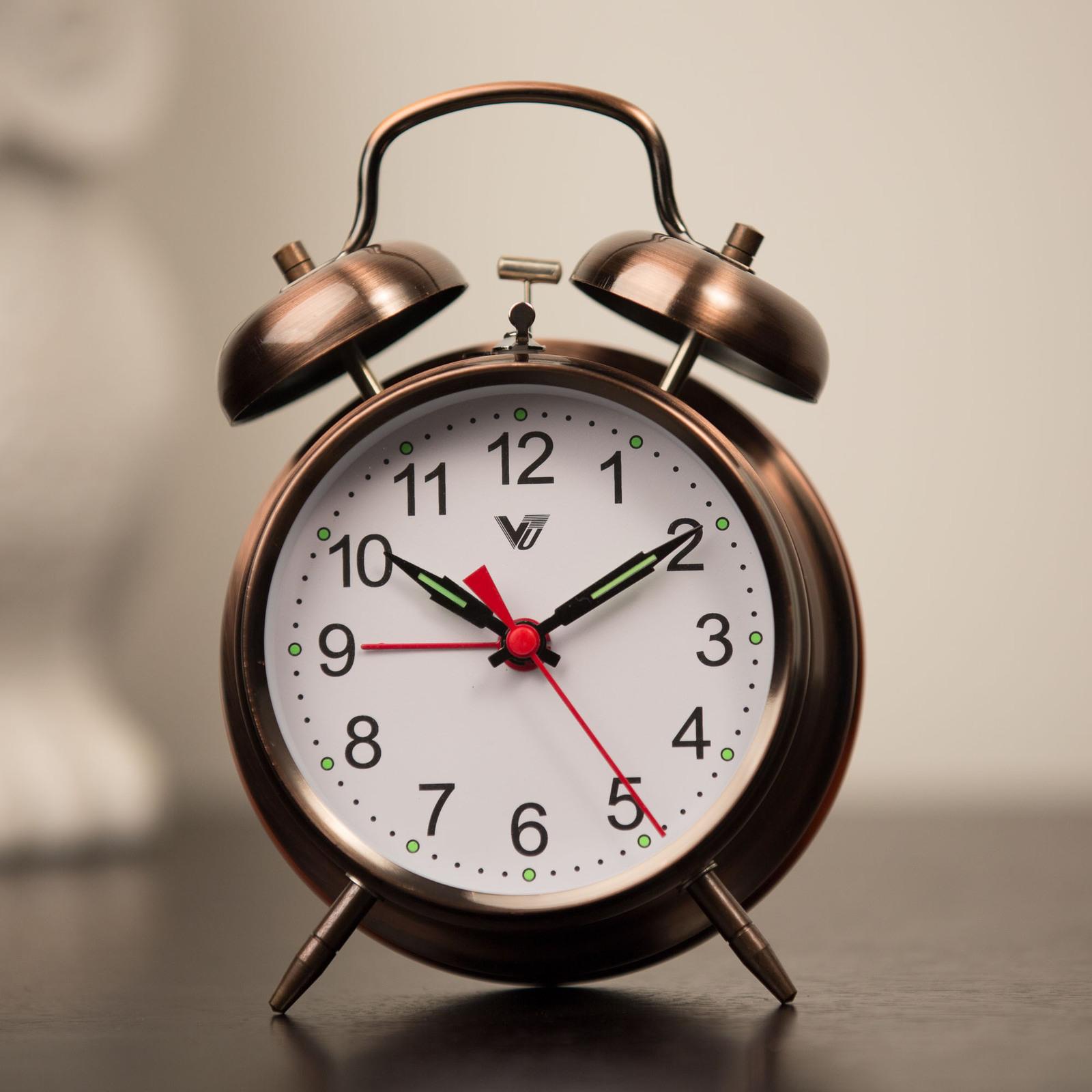 Mantle Alarm Clock 11cm Copper Mechanical Unique Stylish
