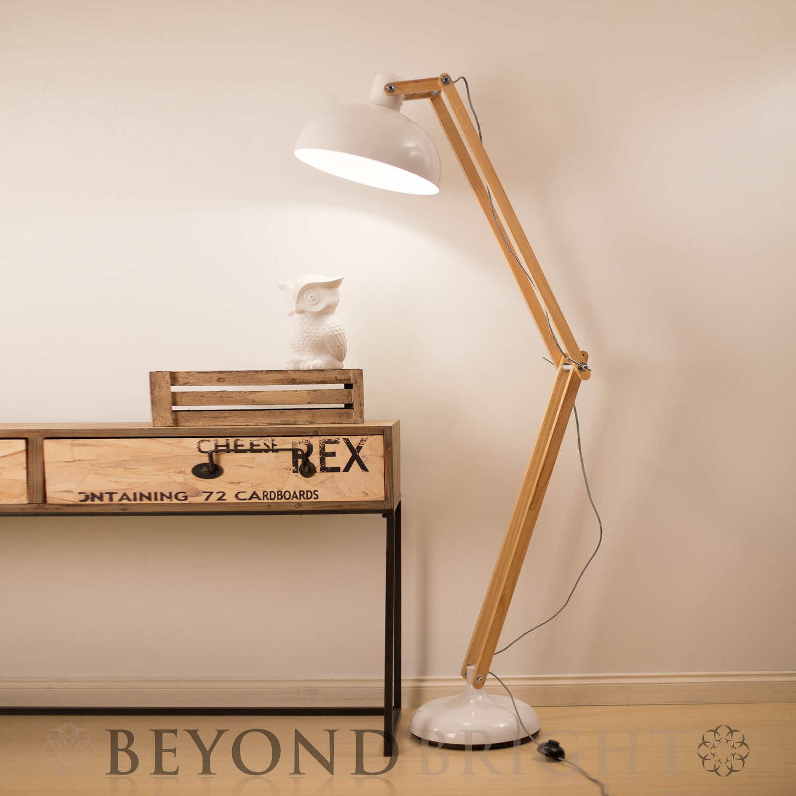 Huge sleuth style floor lamp in copper statement lighting from 17m sleuth white floor lamp aloadofball Image collections