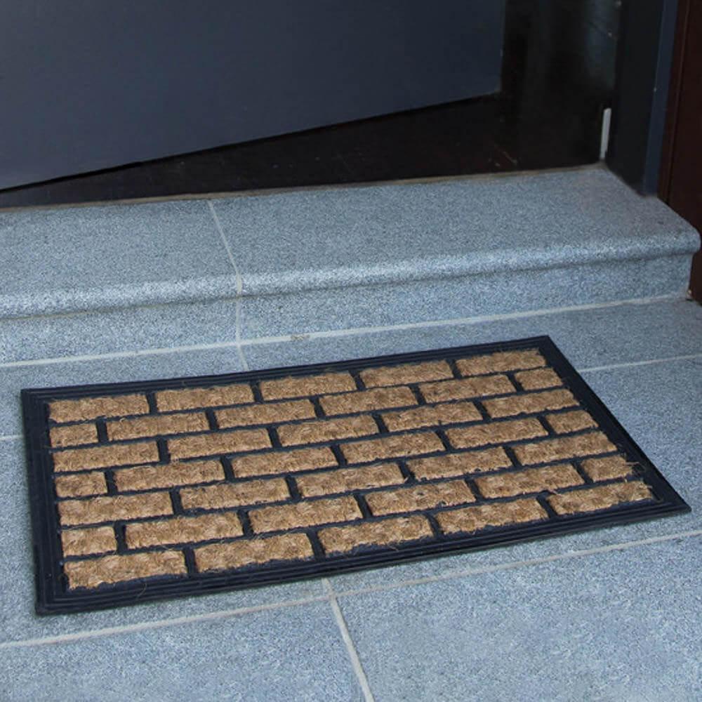 Doormat 35x60 Cm Coir Brick Entrance Outdoor Heavy Duty