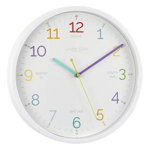 Tell The Time Silent Wall Clock - White - 30cm