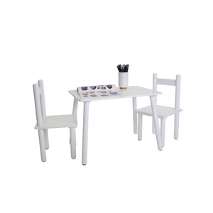 Kids Classic 3pc Table & Chair Set - White