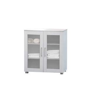 Aspen Multi-Purpose Low Line Cupboard Cabinet - 2 Door w/Shelves -  White - 60x78cm