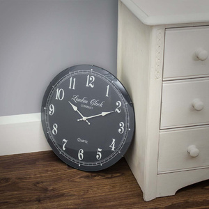 London Clock Company - Emma Wall Clock - Grey 42cm