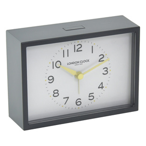 London Clock Company Buzz Charcoal Silent Alarm Clock