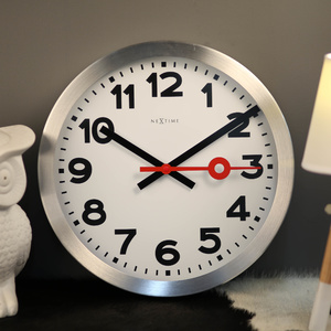 NeXtime Silent Station Wall Clock - Numerical - White - 35cm