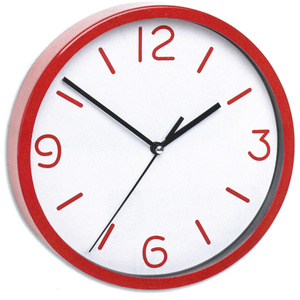 TFA Germany Silent Sweep Wall Clock - Red - 20cm