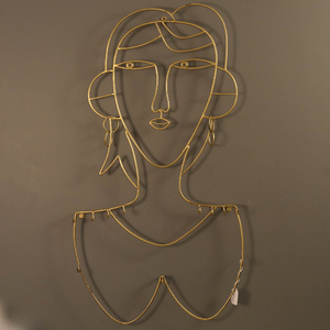 Chic Gold Fashionista Wall Jewellery Hanger - 43x4x79cm