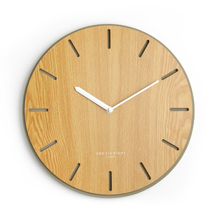 Gabriel 35cm Silent Concrete and Wood Wall Clock