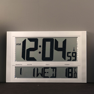 TFA Germany Large Digital Radio Controlled Silent Clock - Date, Day, Temp - 42cm