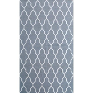 Sweden 59 Wool Kilim Rug - Grey - 110x160