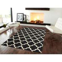 Sweden 68 Wool Kilim Rug - Black - 160x230