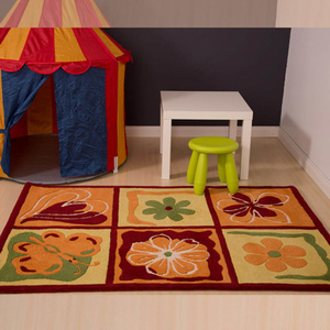Kids 124 Yellow Flower Rug - 160x230cm
