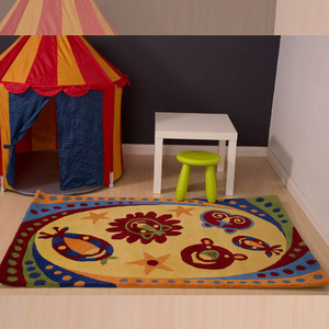 Kids 130 Gold Faces Rug - 110x160cm