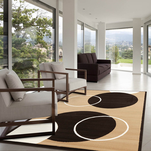 Sterling Modern Rug - Beige Black White