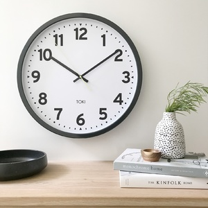 Toki - Kennett Silent Sweep Wall Clock - Charcoal - 50cm