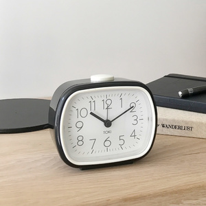 Toki - Kaspa Silent Sweep Alarm Clock - Black - 8.5x10.5cm