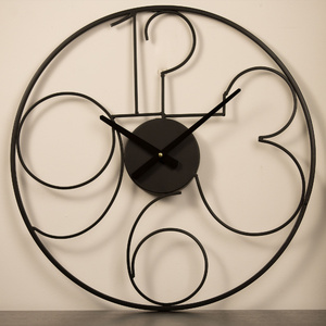 50cm 'Outdoor' Wall Clock - Black