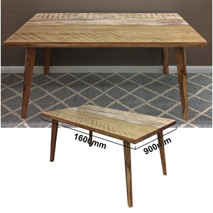 Abby Dining Table - Acacia Wood - Antique White Finish - 160cm