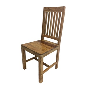 2x Hamptons Wooden Dining Chair - Acacia - 100cm