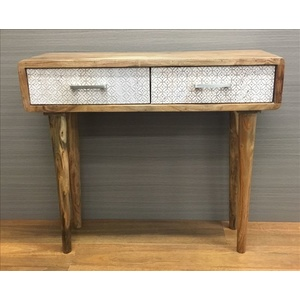 Aaron Desk - 2 Drawers - Acacia -  90cm