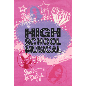 Kids Castle - High School Musical - Pink and Purple 100x150cm