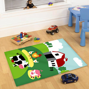 Cirque Kids Non Slip Barn Yard Farm Rug - Multi - 100x150cm