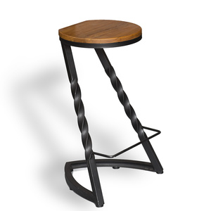 Twist Bar Stool - Black - 72cm Bar Height