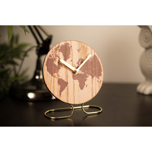World Mantle Clock - 15 x 18.5cm