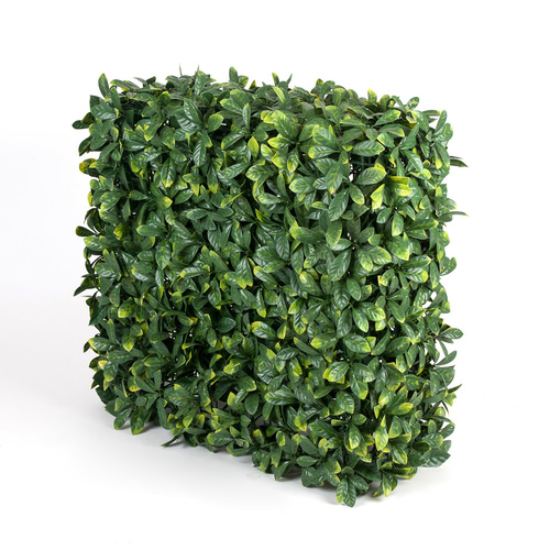 Artificial Portable Hedge UV Stabalised - 75x75x25cm - Laurel