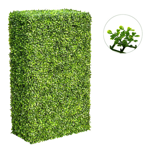 Large Artificial Portable Hedge - UV Stabalised - 2m x 1m x 25cm + 5cm Foliage - Boxwood