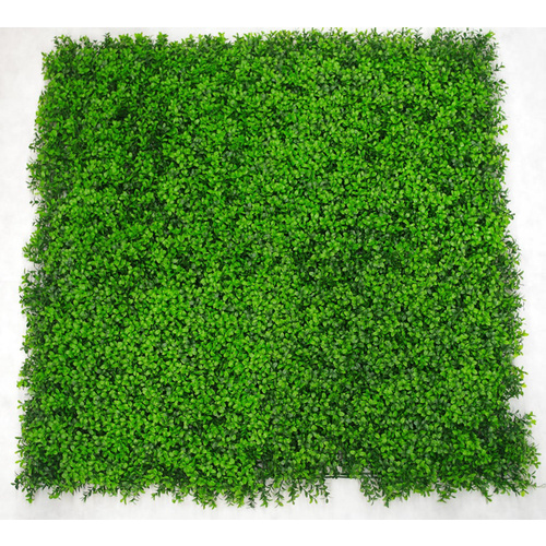 UV Stabalised Artificial Green Wall Leaf Screens / Panels - 1m x 1m - Deluxe Buxus