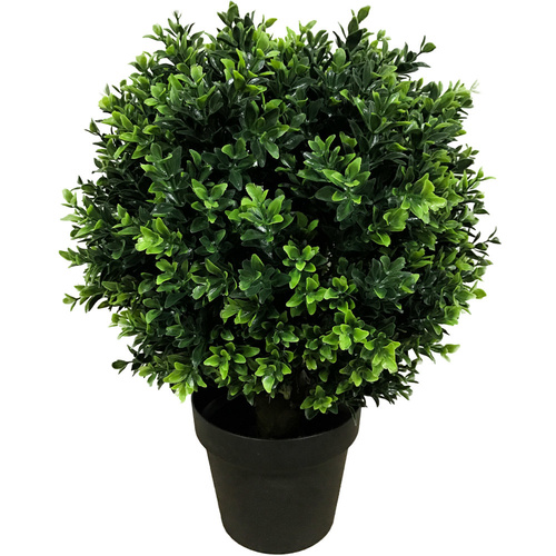 Artificial Topiary Shrub (Hedyotis) UV Stabalised Mixed Green - 50cm
