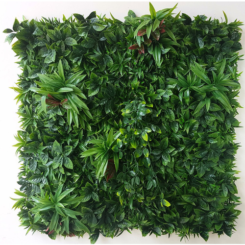 Select Range Artificial Green Wall Leaf Screens / Panels UV Stabalised - 1m x 1m - Green Meadows