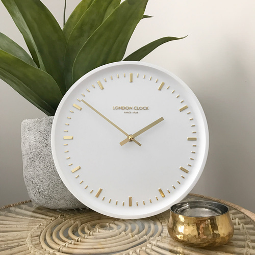 London Clock Company Arto White Wall Clock 25cm