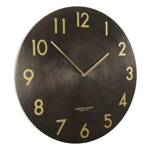 Profusion Gunmetal Metal Wall Clock 60cm by London Clock Company