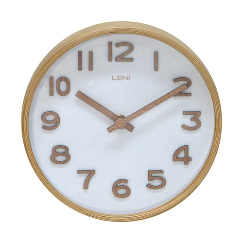Leni Table/Wall Clock White 18cm