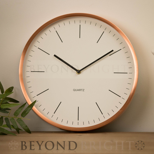 Copper 33cm Modern Wall Clock