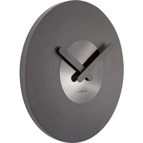 NeXtime Silent In Touch Wall Clock - Black - 39.5cm