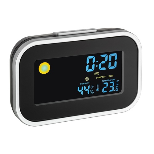 TFA Germany Digital Silent Alarm Clock w/ room climate