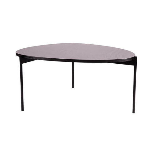 Eclipse Iron MDF Coffee Table - Natural/Black - 80x65x38cm