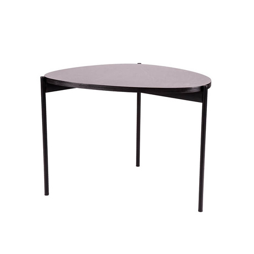 Eclipse Iron MDF Coffee Table - Natural/Black - 60x51x45cm
