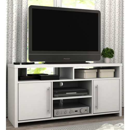 Mia TV Stand & Entertainment Storage Unit - White - 130x58cm