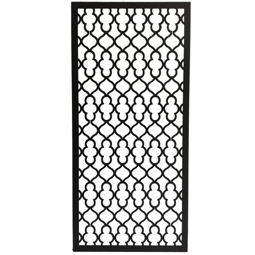 Laser-Cut Geometric Wall Hanging Decorative Screen - Black - 90x180cm