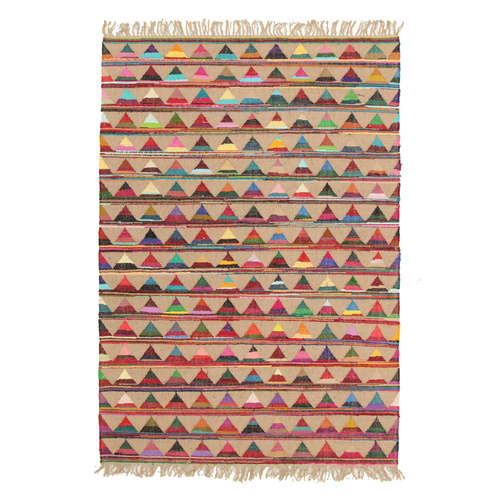 Piazza Natural Jute and Cotton Rug - 150x220cm