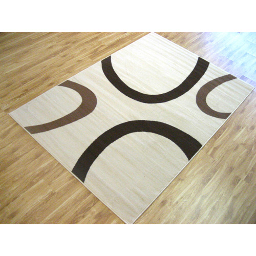 Sterling Cream and Grey Swish Rug - 190x280cm