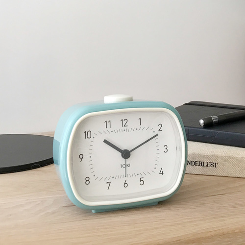 Toki - Lisbet Silent Sweep Alarm Clock - Duck Egg - 8.5x10.5cm